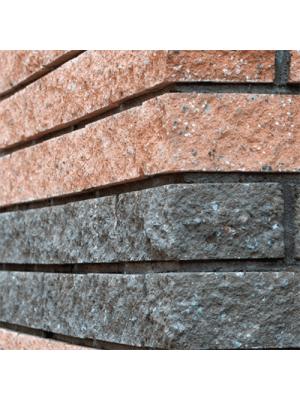 Колотый фасадный камень угловой 225х50х65