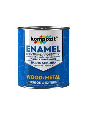 Алкидная эмаль ПФ 115 Kompozit (коричневая краска) 0,9 кг