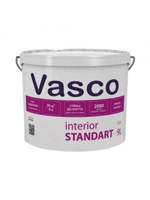 Краска акриловая интерьерная Vasco Standart белая 9л