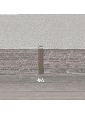 Соединительный элемент для плинтуса Ktex 1, серебро