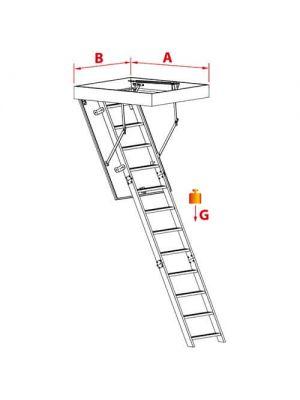 Лестница чердачная PRIMA Oman 110х60х280 см