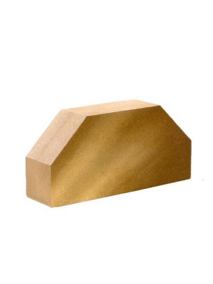 Кирпич Литос гладкий 2-х угловой (желтый)
