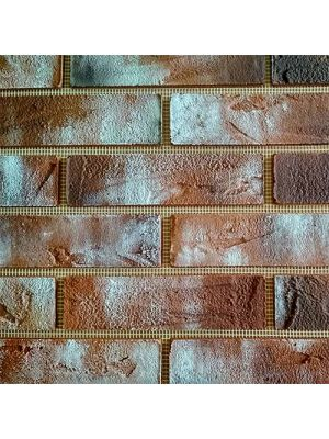 Гибкий кирпич «IN-BRICK» № 2-loft style терракотовый, коричневый, белый