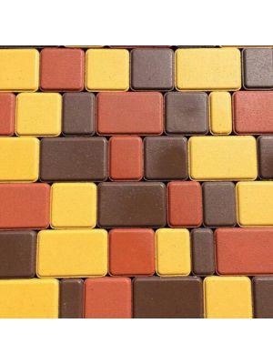 Плитка тротуарная 60 мм коричневая Мегабрук Старый город