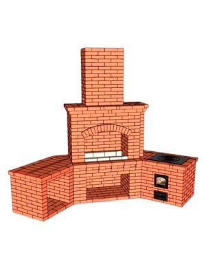 Уличная печь для дачи с варочной плитой