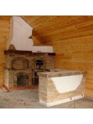 Печь барбекю из кирпича (под казан)
