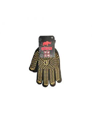 Перчатки черно-желтые Носорог