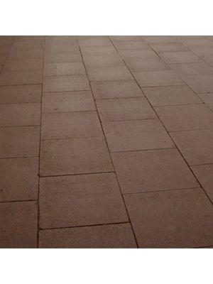 Плита тротуарная 600х600 мм коричневая уличная Золотой Мандарин