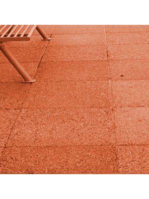 Плита тротуарная 600х600 мм оранж меланж уличная Золотой Мандарин