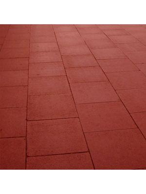 Плита тротуарная 600х600 мм красная уличная Золотой Мандарин