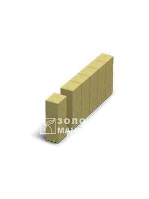 Поребрик фігурний квадрат 500х80,  Золотий Мандарин