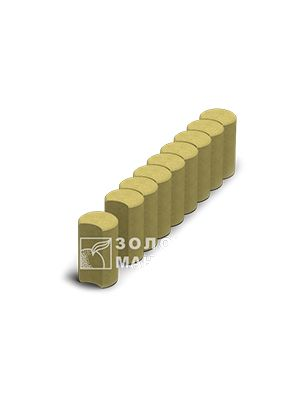 Поребрик фигурный круглый, Золотой Мандарин