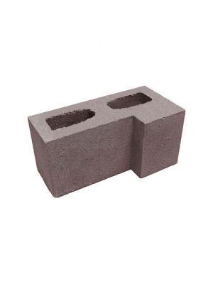 Блок гладкий угловой Силта Брик коричневый