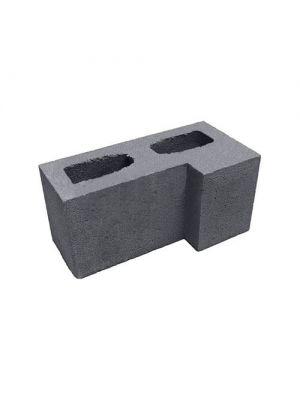 Блок гладкий угловой Силта Брик графит