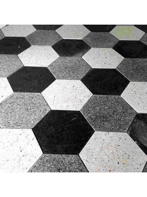 Тротуарная плитка Сота под природный камень 60мм белая полированная Золотой Мандарин