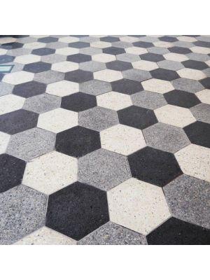 Тротуарная плитка Сота под природный камень 60мм ваниль полированная Золотой Мандарин