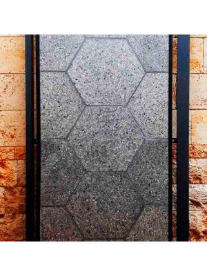 Тротуарная плитка Сота под природный камень 23мм оливия полированная Золотой Мандарин