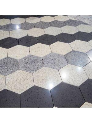 Тротуарная плитка Сота под природный камень 60мм оливия полированная Золотой Мандарин