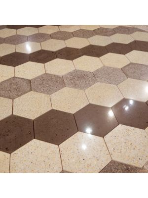 Тротуарная плитка Сота под природный камень 23мм гранж полированная Золотой Мандарин