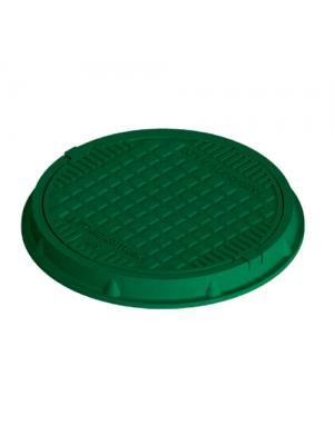 Люк полимерпесчаный легкий садовый Л-63.75.08-ПК-Ф3 зеленый 750 мм