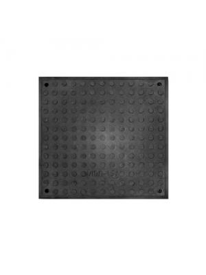 Люк полимерпесчаный Л черный с замком 1,5 т 750х630