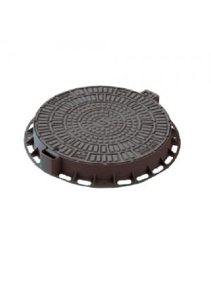 Люк садовый пластиковый Лого черный 800 мм