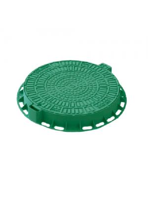 Люк садовый пластиковый Лого зеленый 800 мм
