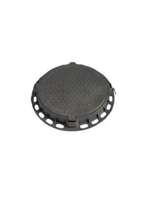 Люк садовый полимерный черный 790 мм