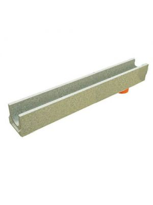 Лоток водовідвідний ЛВ-10.14.13-БВ BetoMax Basic бетонний з вертикальним водовідводом