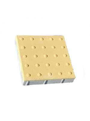 Плитка тактильная 300х300 Шаблон Внимания желтая Золотой Мандарин