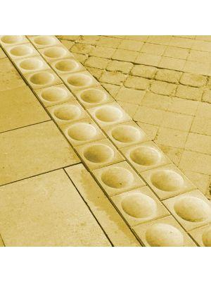 Тактильная плитка Стоппер желтая 200х200х80 Золотой Мандарин (предупреждающая)