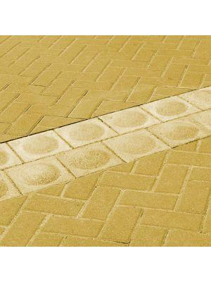 Тактильная плитка Стоппер желтая 200х200х100 Золотой Мандарин (предупреждающая)