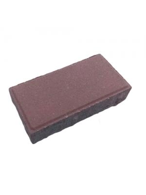 Плитка тротуарная 40 мм коричневая Мегабрук Кирпичик