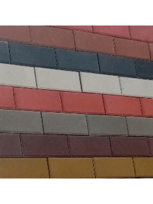 Плитка тротуарна 40 мм графіт Мегабрук Кирпич
