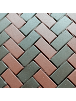 Плитка тротуарная 60 мм коричневая Мегабрук Кирпичик