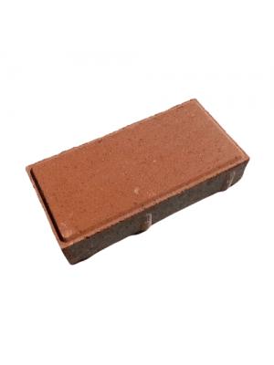 Плитка тротуарная 40 мм персиковая Мегабрук Кирпичик