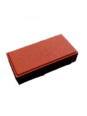 Плитка тротуарная 40 мм красная Мегабрук Кирпичик