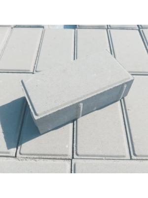 Плитка тротуарная 60 мм белая Мегабрук Кирпичик