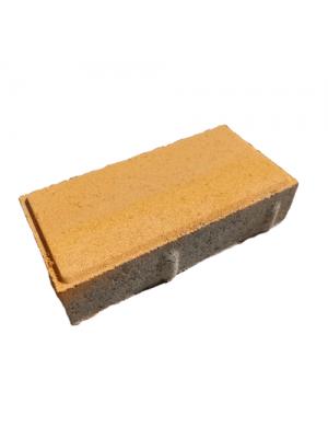 Плитка тротуарная 40 мм желтая Мегабрук Кирпичик
