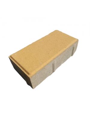Плитка тротуарная 60 мм желтая Мегабрук Кирпичик