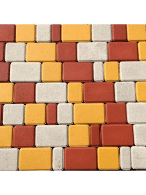 Плитка тротуарная 60 мм желтая Мегабрук Старый город