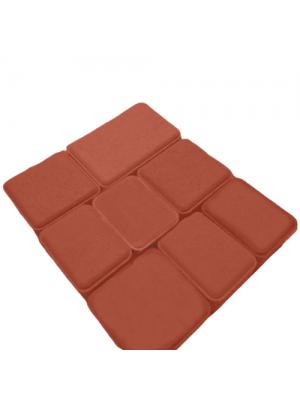 Плитка тротуарная 60 мм красная Мегабрук Старый город