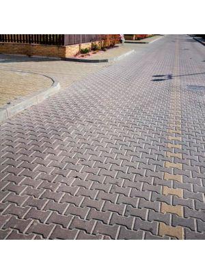 Плитка тротуарна Юнігран,  Двутавр 10 см Каштан