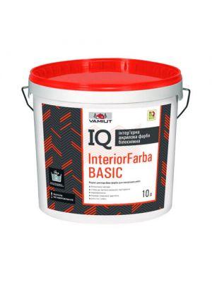 Краска акриловая интерьерная Vamiut IQ InteriorFarba Basic 10 л