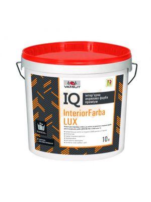 Краска интерьерная акриловая Vamiut IQ InteriorFarba Lux 10 л