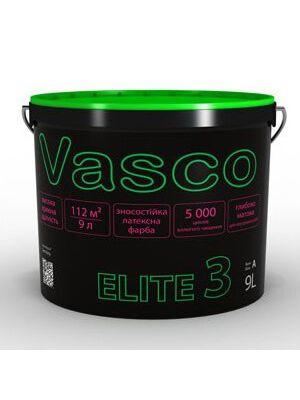 Краска латексная износоустойчивая матовая ELITE 3 VASCO белая 2.7л