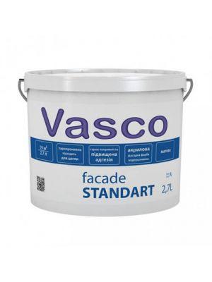 Краска фасадная Fasade Standart Vasco белая 2.7л