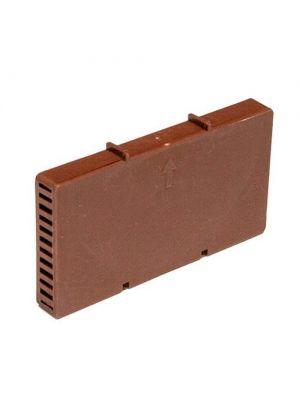 Вентиляционная коробочка 115х60х9 мм коричневая