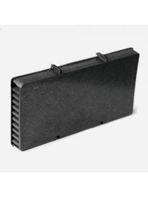 Вентиляционная коробочка 115х60х9 мм черная