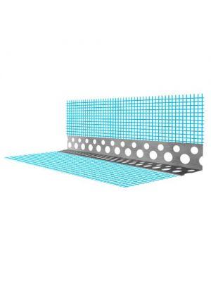 Уголок фасадный с сеткой металлический